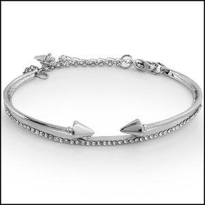 Gorgeous Womens Silver Toned Swarovski Crystal